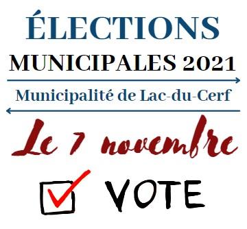 ÉLECTION MUNICIPALE 2021 - VOTE PAR CORRESPONDANCE